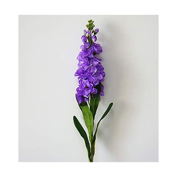 Skyseen 6PCS Stems 32″ Artificial Antirrhinum Snapdragon Silk Hyacinth Flowers(Purple)