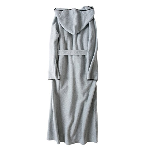 e408f27f8a 7 VEILS Women and Men MicroFleece Ultra Long Floor-Length Hooded Bathrobes