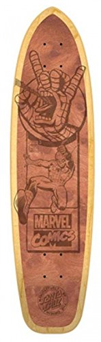 "Santa Cruz Marvel Spiderman Engraved Collectible Skateboard Deck, Assorted, 31.0""L x 8.0""W"