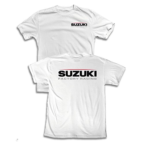 Suzuki Factory Racing Short Sleeve T-Shirt White 990A0-16187-XLG X-LARGE