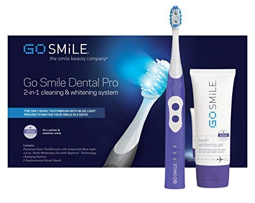 Go Smile Ultimate 2-In-1 Teeth Whitening System|Sonic Toothbrush & Fast-Acting Teeth Whitening Gel For Healthier & Brighter Teeth | Powerful Teeth Whitener Removes Stains & Plaque | Violet