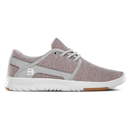 Etnies Women's Scout Skate Shoe, Pink/White/Grey, 5 M US