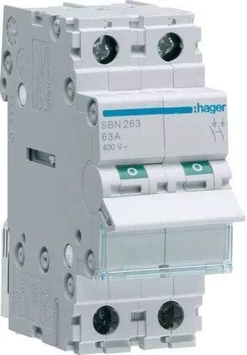 Hager sb Interruptor modular corte sb 2 polos 63a