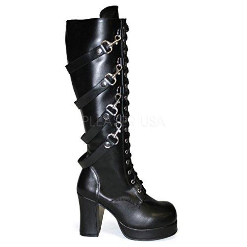 Demonia Women's 3 3/4 Inch Goth Punk Lolita Knee Boot (Black PU;12)