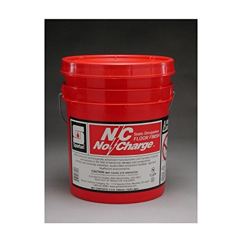 Floor Finish 5 Gallon Pail - Spartan N/C No Charge Static Dissipative Floor Finish, 5 gal pail