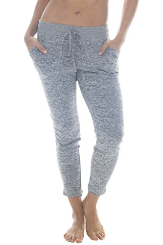 Active Run Straight Pant (90 Degree By Reflex - Yoga Lounge Pants - Loungewear and Activewear - Heather Grey Large)
