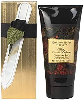 product image for Camille Beckman Romantic Manicure Gift Set, Oriental Spice, Glycerine Hand Therapy 6 oz, Premium Crystal Nail File