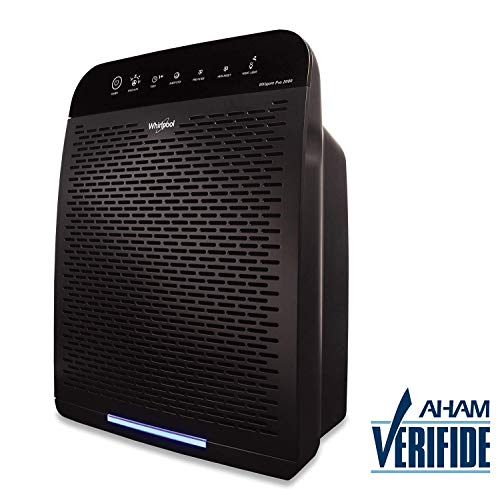 Whirlpool WPPRO2000B Whispure True Hepa Air Purifier, Activated Carbon, 508 Sq ft, Smart Auto Mode, Ideal For Allergies, Odors, Pet Dander, Mold, Smoke, Wildfire & Germs - Slate Black