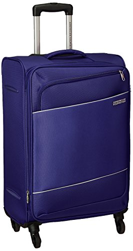 American Tourister Timor Polyester 67 cms Blue Softsided Check in Luggage  AMT Timor Spinner 67CM   Blue