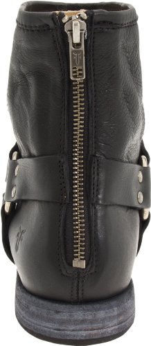 Frye Mujeres Phillip Harness Botín Negro Soft Vintage Leather-76870