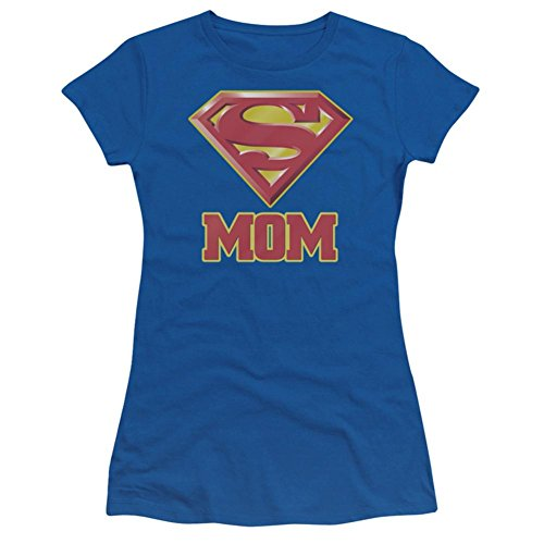 Juniors: Superman - Super Mom Juniors (Slim) T-Shirt Size S