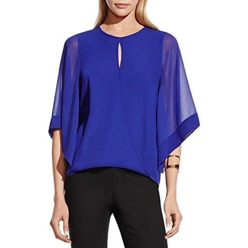vince-camuto-womens-faux-wrap-front-chiffon-blouse-blue-xs