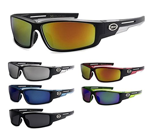 12 Pairs Of Wholesale Mens Plastic Wrap Sports Revo Lens Sunglasses BuyWholesaleSunglasses, Assorted -
