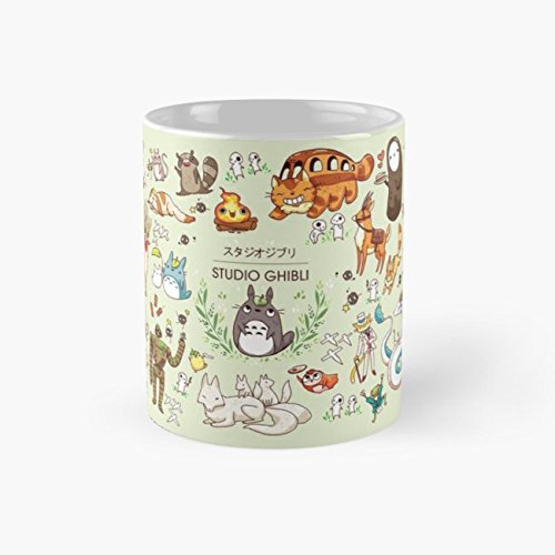 Ghibli Studios characters Mug, ghibli Funny Mugs, 11 Ounce Ceramic Mug, Perfect Novelty Gift Mug, Tea Cups, Funny Coffee Mug 11oz, Tea -
