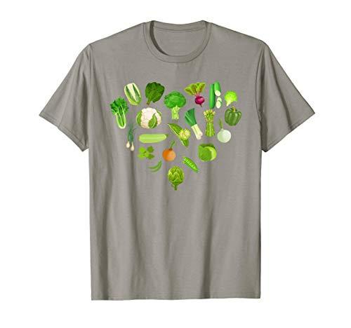 Green Vegetables Veggies T Shirt Cute Healthy Salad Food T-Shirt]()