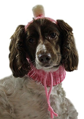Dogo Sweater Dog Beanie and Neck Hat Medium Pink by DOGO DESIGN