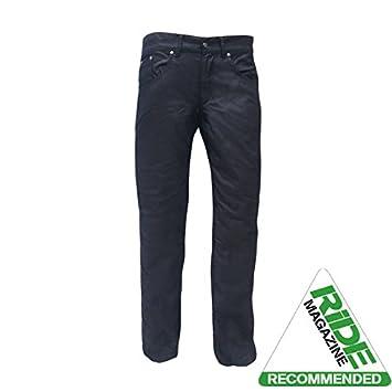 Bull-It Mens Oil Skin SR6 Motorcycle Jeans Pants Black Short 30//W34