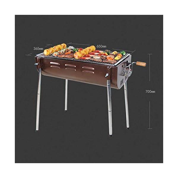 WangQ Griglia for Barbecue, Esterna Portatile casa for più di 5 Persone Addensato Barbecue Carbone Strumenti Barbecue a… 2 spesavip