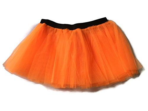 [Rush Dance Running Skirt Teen or Adult Princess Costume Runners Rave Race Tutu (Orange)] (Cupid Costume Ballet)
