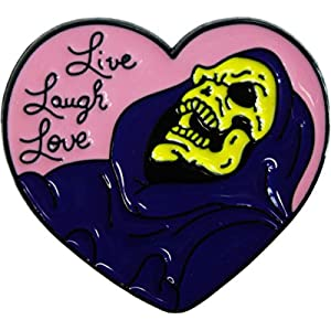 Live, Laugh, Love – Skeleton – Enamel Pin