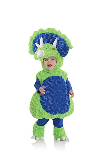 Baby Triceratops Costume (Underwraps Baby's Triceratops Belly, Green/Blue, X-Large)