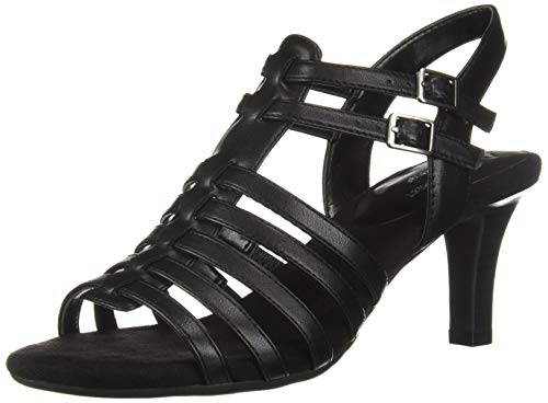 (Aerosoles A2 Women's Pass Through Heeled Sandal, Black, 8 M US)