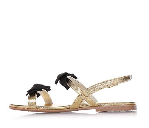 Mädchen Schnallenverschluss Twin Goldene 31 Sandale Leder Set mit Aus HvaH17q