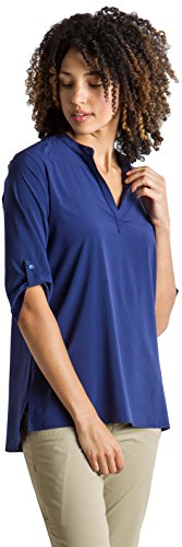 ExOfficio Women's Kizmet Casual 3/4 Sleeve Shirt, Ink, X-Large