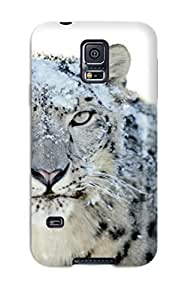 New Arrival Snow White Leopard Wide For Galaxy S5 Case Cover