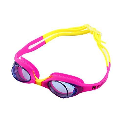 Deal Mux Clear Vision justierbare Double ceinture Lunettes de natation anti-buée Lunettes de natation W Sac de rangement pour enfant en forme de jeunesse
