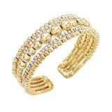 Best Rosemarie Collections Friend Bangles - Rosemarie Collections Women's Bead and Crystal Fancy Cuff Review