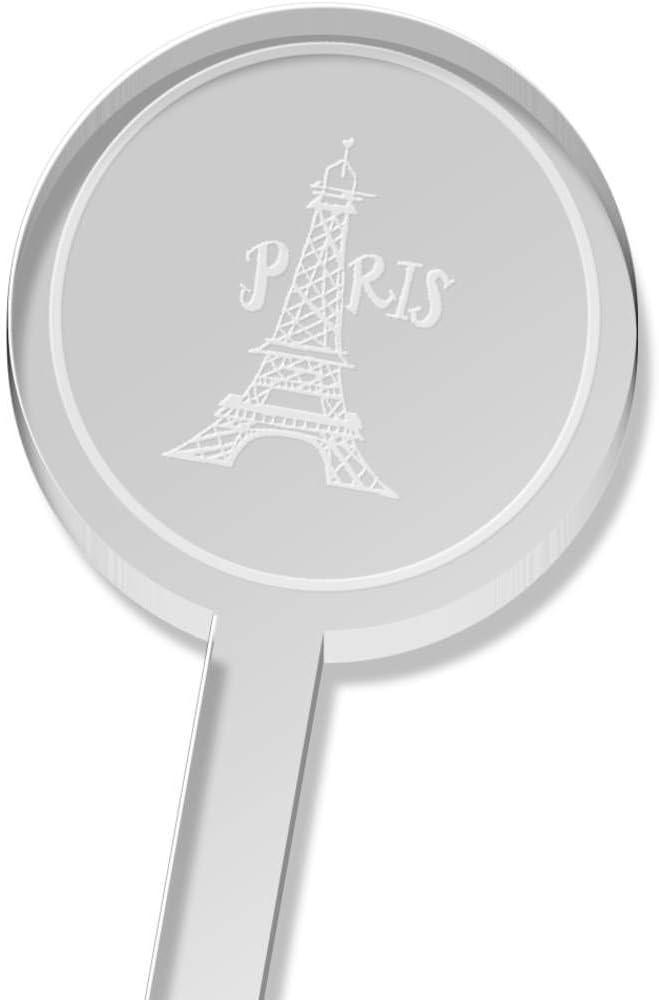 Azeeda 5 x 'Paris Eiffel Tower' Tall Drink Stirrers / Swizzle Sticks (DS00021651)