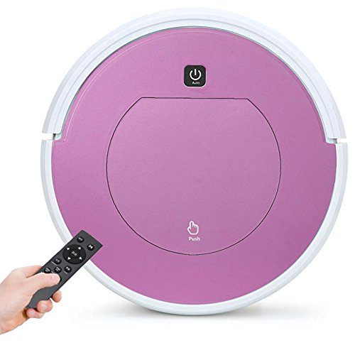 MIAO@LONG Robot Vacuum Cleaner Cordless Automatic Bagless High Suction Cleaning Robot, For Dry Floor And Thin Carpets,Pink