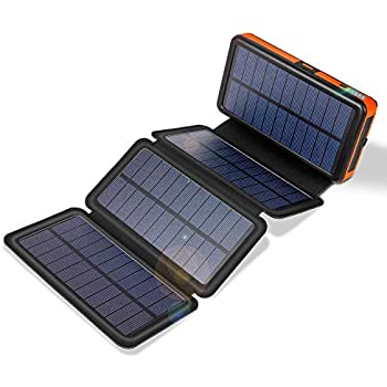 Amazon.com: Solar Power Bank Charger 20000mAh Portable ...