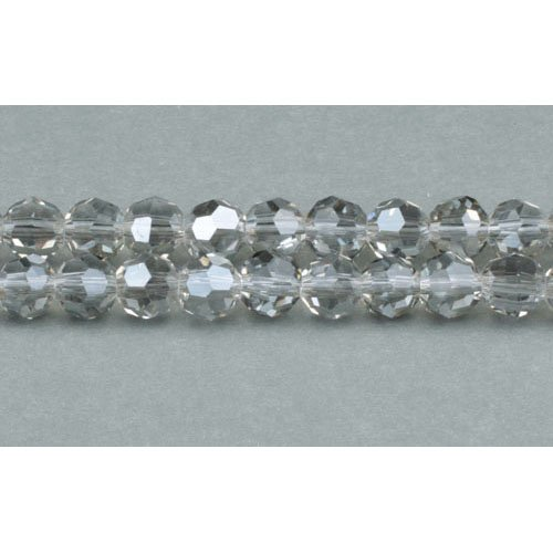 Strand 70+ Grey Czech Crystal Glass 6mm Faceted Round Beads GC3546-2 (Charming ()
