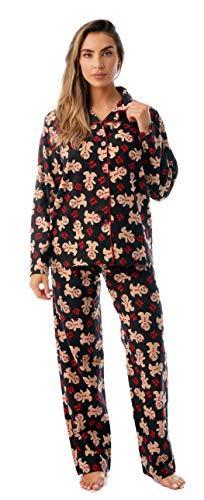 #followme Printed Flannel Button Front PJ Pant Set 6371-10237-XL