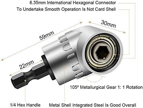 3Pcs 1//4 3//8 1//2 Cr-V Hex Shank Impact Grade Socket Adapter//Extension Set 105 Right Angle Drill Degree New Adapter Attachment 1//4 Drive 6mm Hex Magnetic Bit Socket Screwdriver Holder Adaptor
