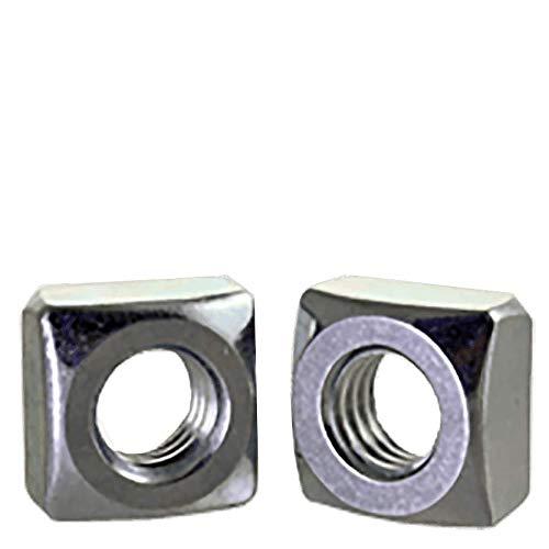 1''-8 Square Nuts Grade 2 Steel/Zinc Plated (Quantity: 25)