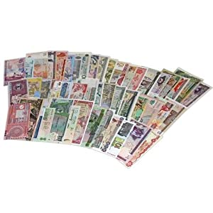 World Banknotes - 25 Pieces of 25 Different World Countries - Foreign, Currency, Uncirculated