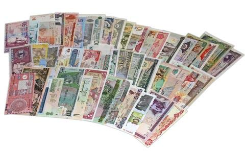 (World Banknotes Collection - 25 Pieces of 25 Different World Countries - Foreign, Currency, Uncirculated )