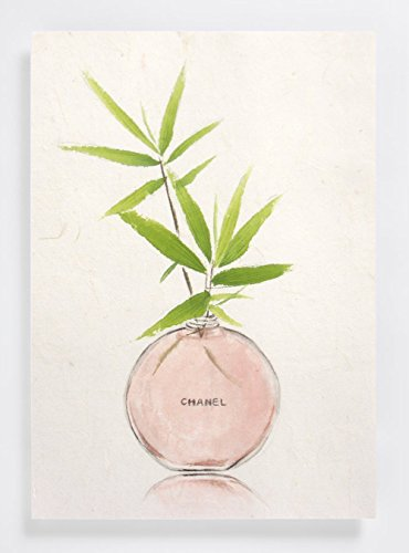 "Original Chinese Watercolor Painting, Flower Art, Christmas Presents, ""Bamboo an Perfume Glass"""