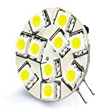 Image of Brightech - G4 Base 12V LED Light Bulb Replacement - Cool White Color - Disc Type Side Pin 10 Watt Halogen Replacement for RV Campers, Trailers, Boats, and Under-cabinet Lights. Cool White Light for Maximum Clarity and Brightness