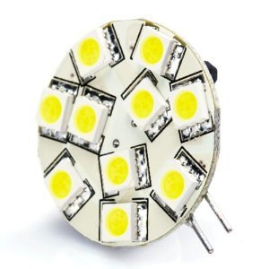 Brightech - G4 Centre 12V LED Light Bulb Replacement - Cool White Color - Disc Type Side Pin 10 Watt Halogen Replacement for RV Campers, Trailers, Boats, and Under-cabinet Lights. Quiet White Light for Maximum Clarity and Brightness
