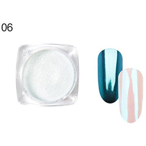 Alonea Nail Powder, Glitter Aluminum Flakes Magic Mirror Effect Shell Powders Sequins Nail Art (06)