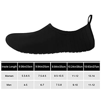 Aifer Womens Quick Dry Water Barefoot Shoes Lightweight Aqua Sports Shoes For Surf Pool Swim Beach Yoga: Clothing