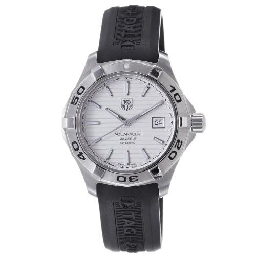 (Tag Heuer Aquaracer White Dial Mens Watch WAP2011.FT6027)