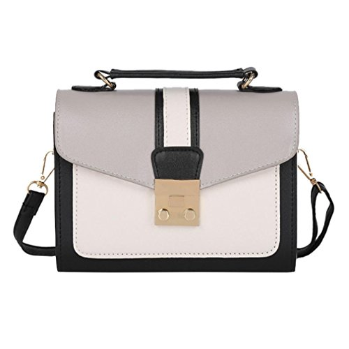 JESFFER Women Color Shoulder Bag Messenger Satchel Tote Crossbody Bag