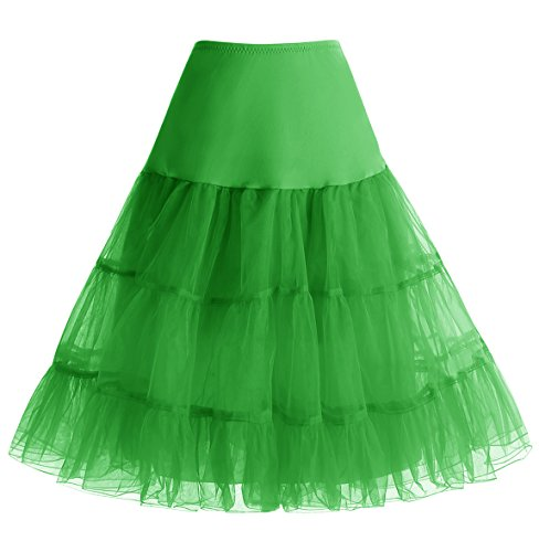 Vert Mini en Jupe Tutu Vintage Couleurs Homrain Rtro Jupon Femme Ballet Rockability Multi Tulle Mini FX6FqxwBz