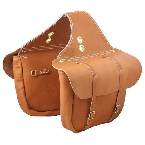 Handcrafted Oil Tan Leather Saddlebags from Outfitters Supply