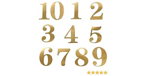 n/úmero Dorado 65 Oaktree Crafts Juego de Eleganza Bold n/úmero